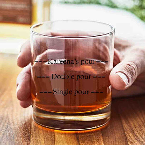 Fancy Custom Whiskey Glass - Perfect Father's Day Gift For Dad - Pour