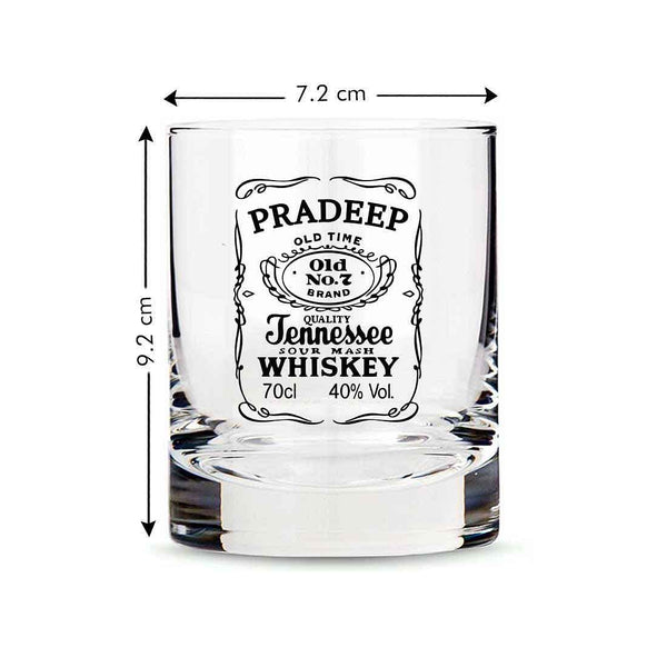 Exclusive Custom Whiskey Glass - Gift For Him Husband Boyfriend -  Bourbon