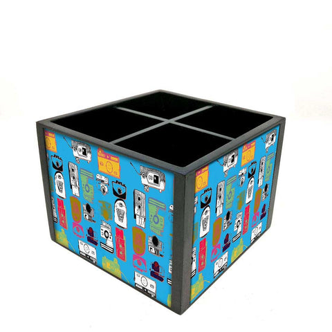 Desk Organizer For Stationery - Colourful shot cameras