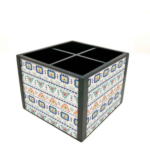 Desk Organizer For Stationery -  Geometric Design