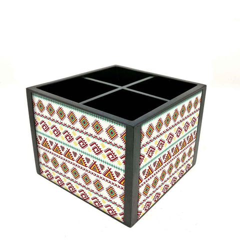 Desk Organizer For Stationery -  Beautiful Geometric Design