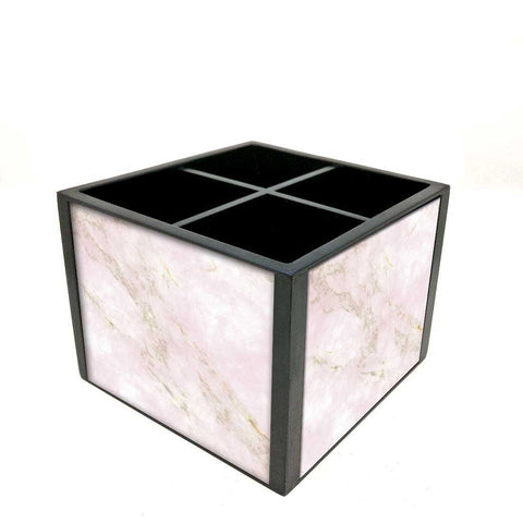 Desk Organizer For Stationery -  Pink Marble