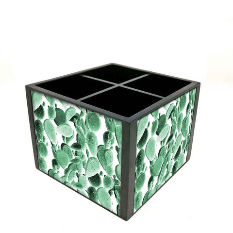 Desk Organizer For Stationery - Green Cactus