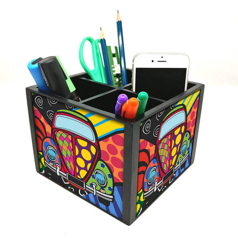 Desk Organizer For Stationery -  Taxi Art