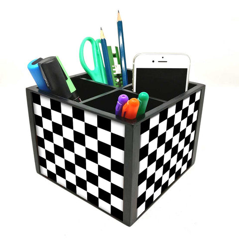 Desk Organizer For Stationery -  Chess Board