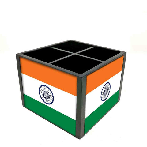 Desk Organizer For Stationery -  Indian Flag