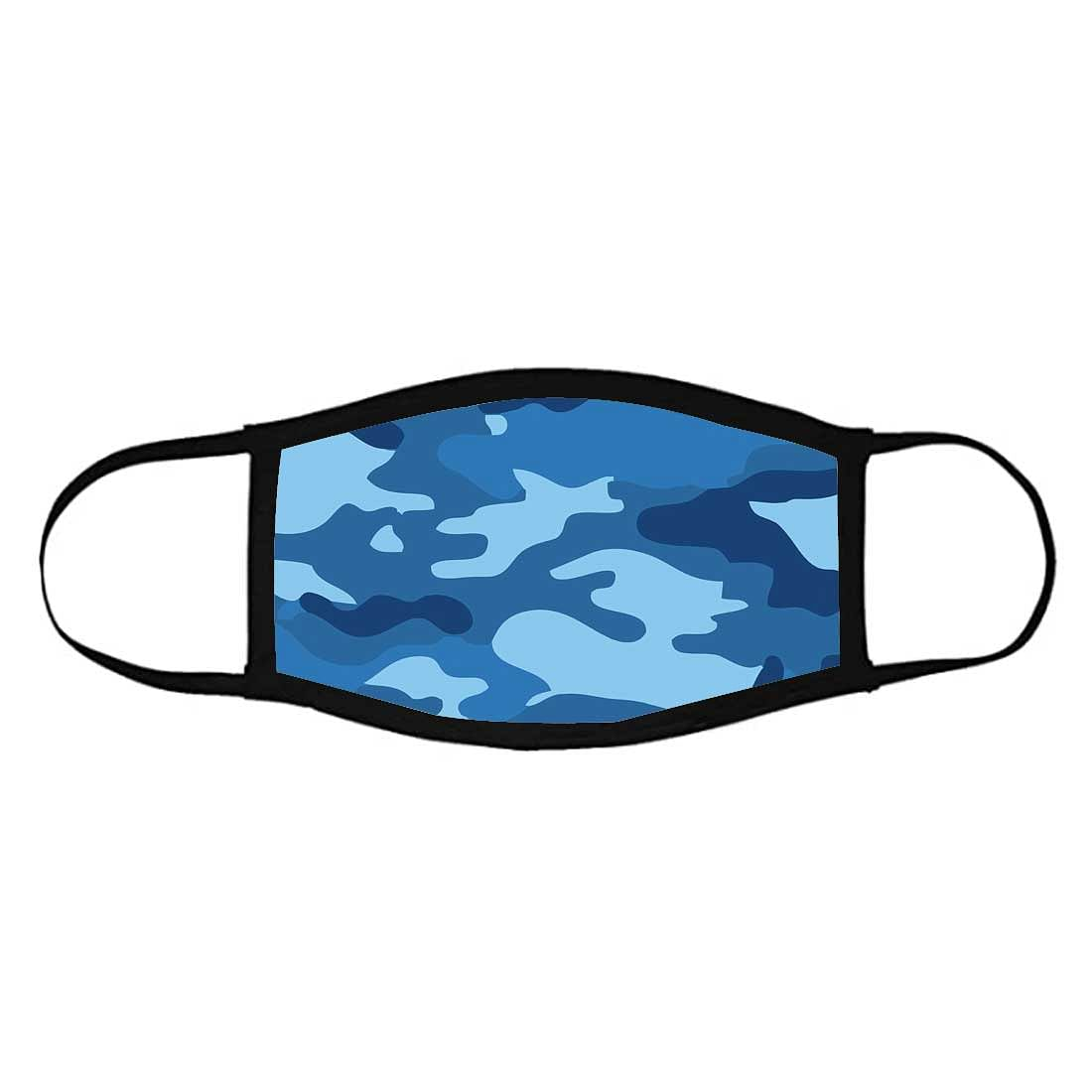Face Masks Reusable Washable Set Of 2 -Navy_camo