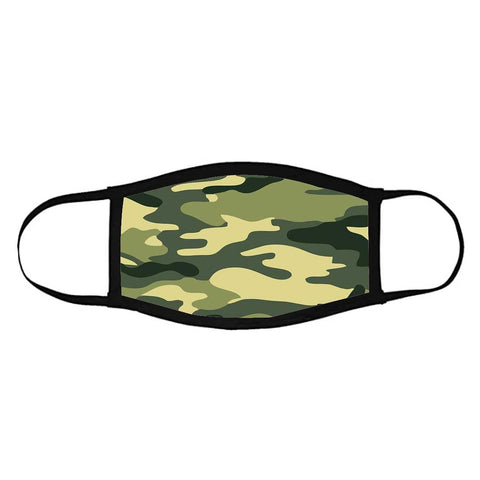 Facemask For Men - 3 Layer Protective Mask - ARMY CAMO MILITARY CAMOUFLAUGE