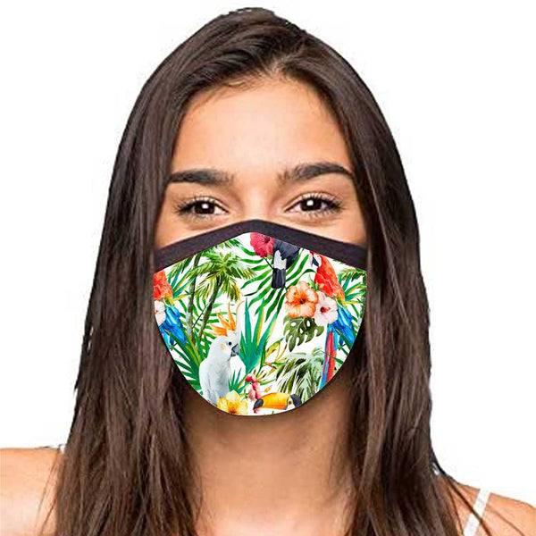 Face Masks Reusable Washable Set Of 2 -Tropical_Animals