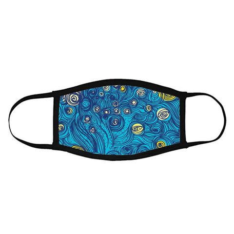 Face Masks Reusable Washable Set Of 2 -Starry_starry_night