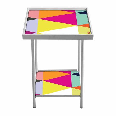 Side Table For Living Room Bedside Table -Colorful Triangle