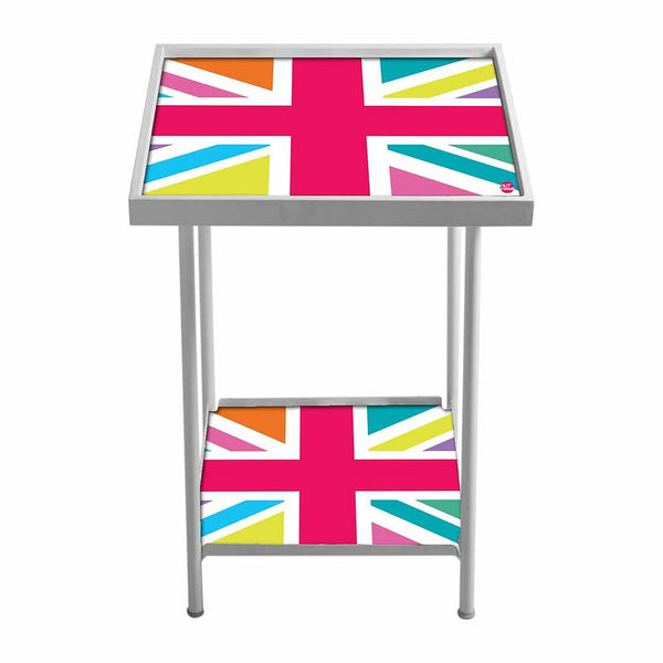 Outdoor Metal Patio Table -Multicolor UK Flag