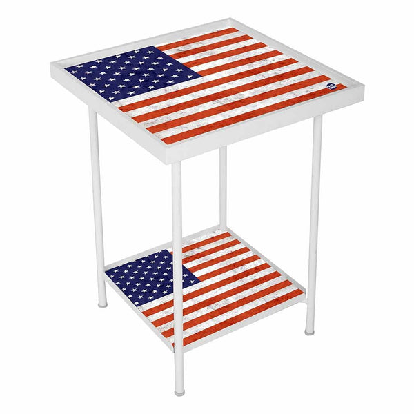 Side Table For Living Room Bedside Table-USA Flag