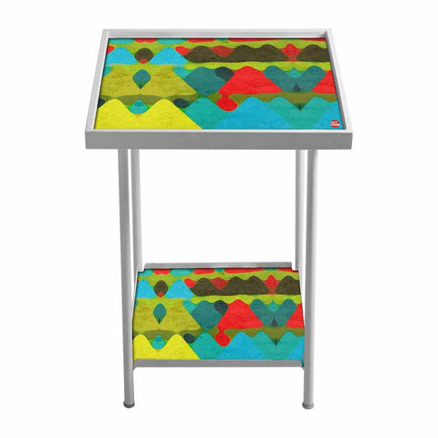 Side Table For Living Room Bedside Table -Colorful Peaks