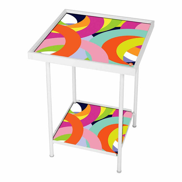 Side Table For Living Room Bedside Table -Ring of Color