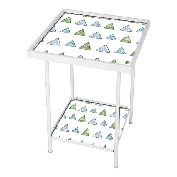 Side Table For Living Room Bedside Table -Green Woods Triangles