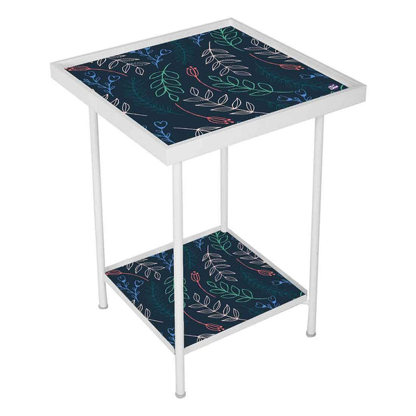 Black Metal Side Table -  Cute Twigs Blue