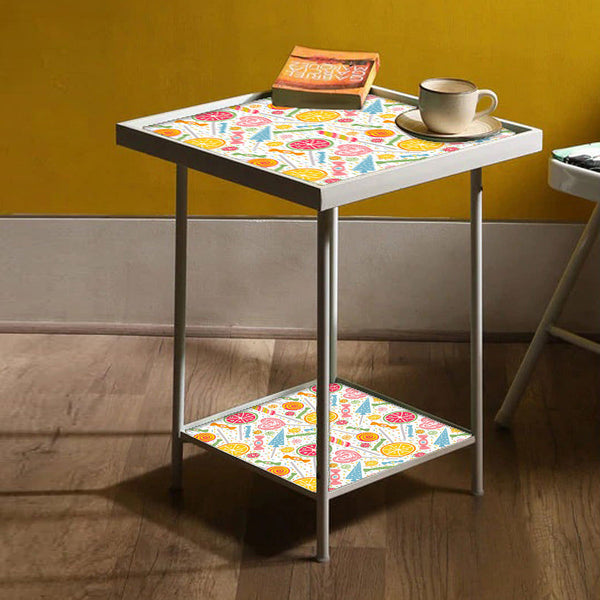Square Metal End Table Online in India