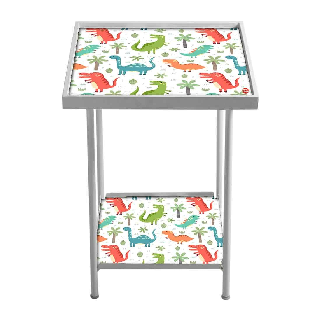 Kids Metal White Side Table