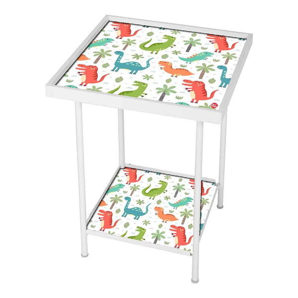 Kids Metal White Side Table Online