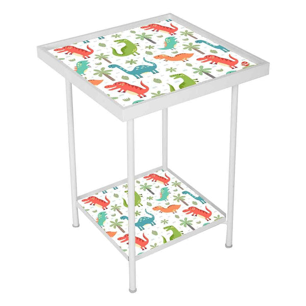 Kids Metal White Outdoor Side Table
