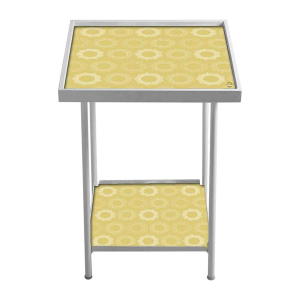 Metal White Side Table