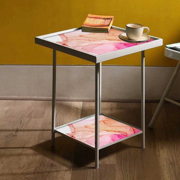 White Metal Side Table Online in India