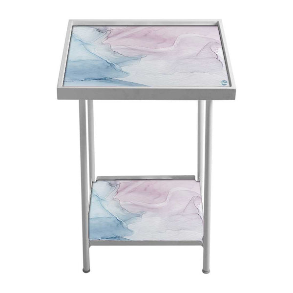 Side Table For Bedroom -  Gray Purple Ink Watercolor