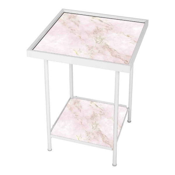Patio Table For Balcony Outdoor - Pink Marble
