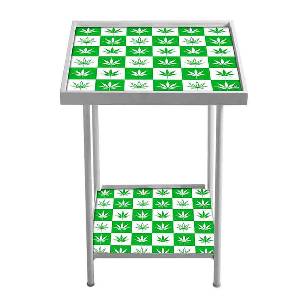 Side Table For Bedroom  - Happy Green Leaves