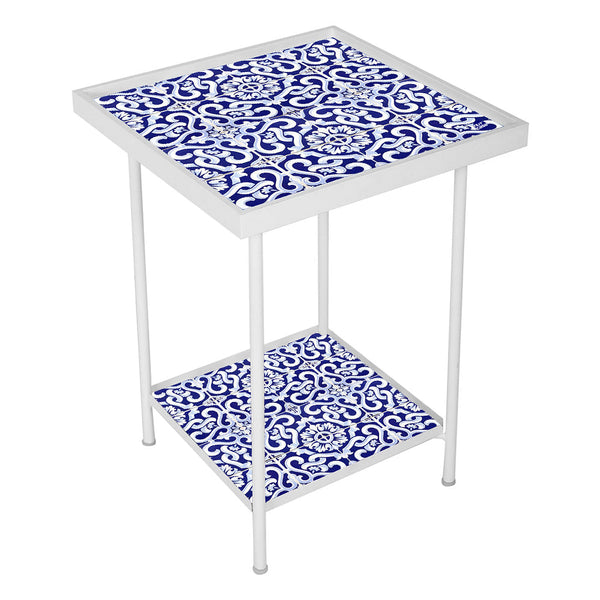 Side Table For Bedroom - Spanish Collection - Blue Tiles