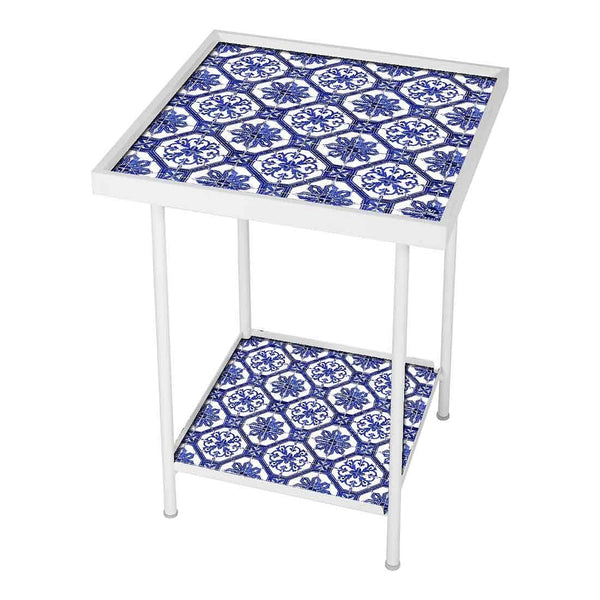 Designer White Metal Side Table Online