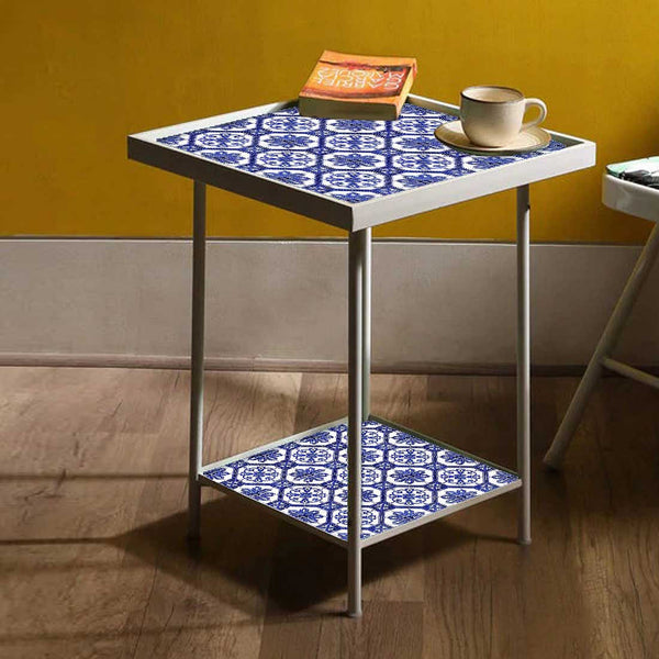Designer White Metal Side Table Online in India