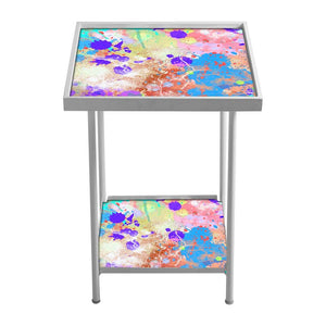 Side Table For Living Room Bedside Table -Water Color