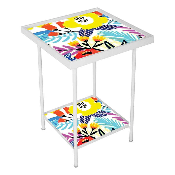 Floral Metal Side Table Online in India