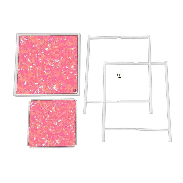 Patio Table For Balcony Outdoor - Pink Color Designer