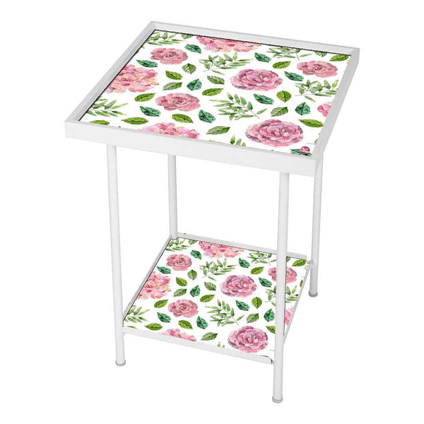 Patio Table For Balcony Outdoor - Pink Roses