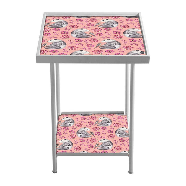 Pink Metal Side Table