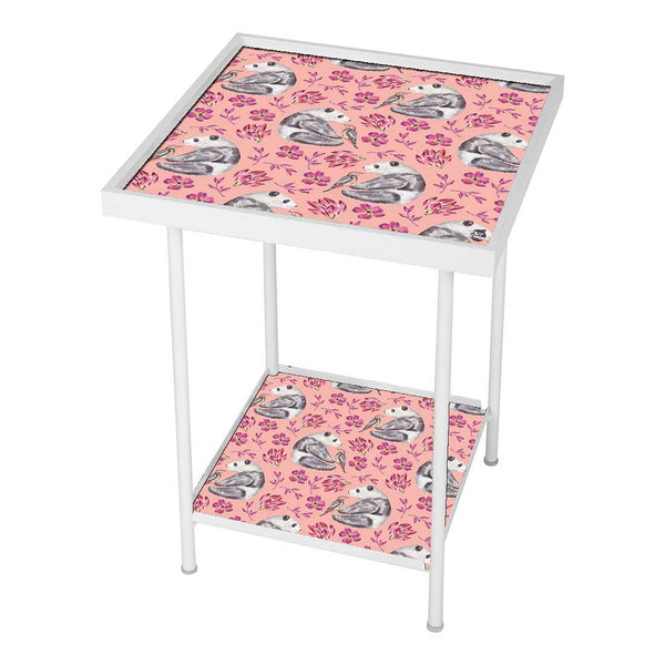 Pink Metal Side Table Online