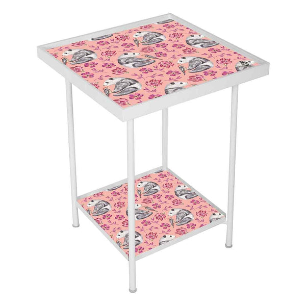 Pink Metal Side Table Online in India