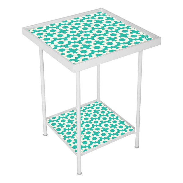 Designer Square Metal Outdoor Side Table