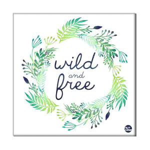 Wall Art Decor Panel For Home - Wild And Free Green
