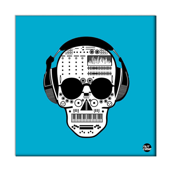 Wall Art Decor Panel For Home - Skull Music