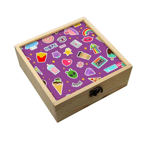 Jewellery Box Wooden Jewelry Organizer -  Kids Party