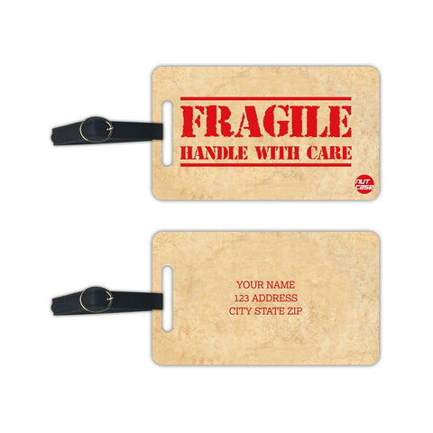 Personalized Custom Travel Tags Add your Name - Set of 2 - Nutcase