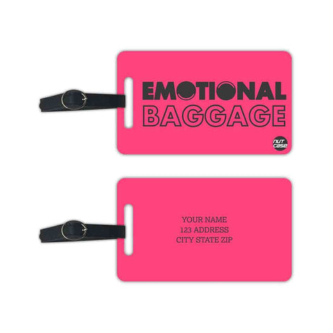 Customized Luggage Tags Baggage Tag with Your Name - Set of 2 - Nutcase