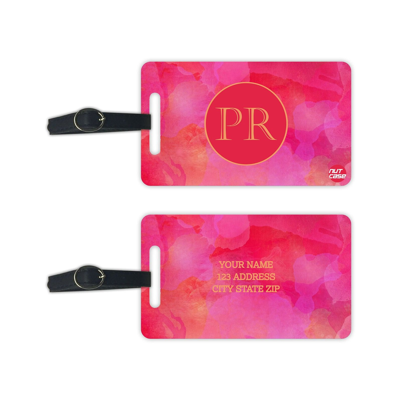 Personalized Luggage Tags Monogram Bag Tag with your Initials - Set of 2
