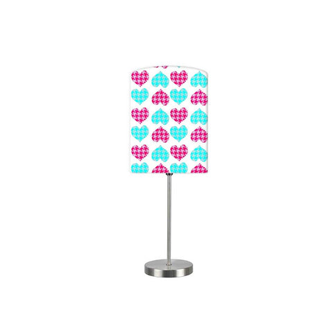 Kids Room Night Lamp - Pink And Blue Heart