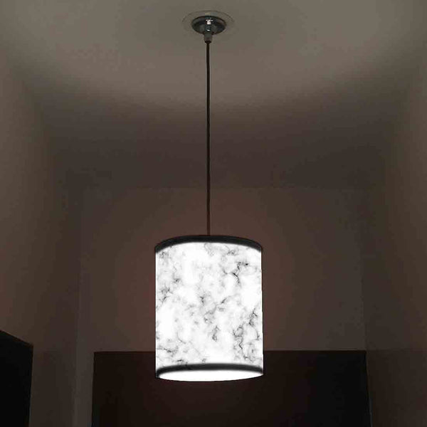 Ceiling Hanging Pendant Lamp Shade - White Black Marble Pastle