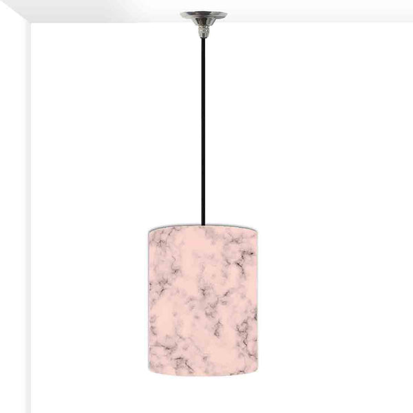 Ceiling Hanging Pendant Lamp Shade - Peach Color Designer Marble Pastle